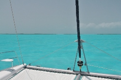 Turquoise waters off Hog Cay Cut, Exumas